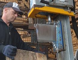 Meterholz auf dem Holzspalter